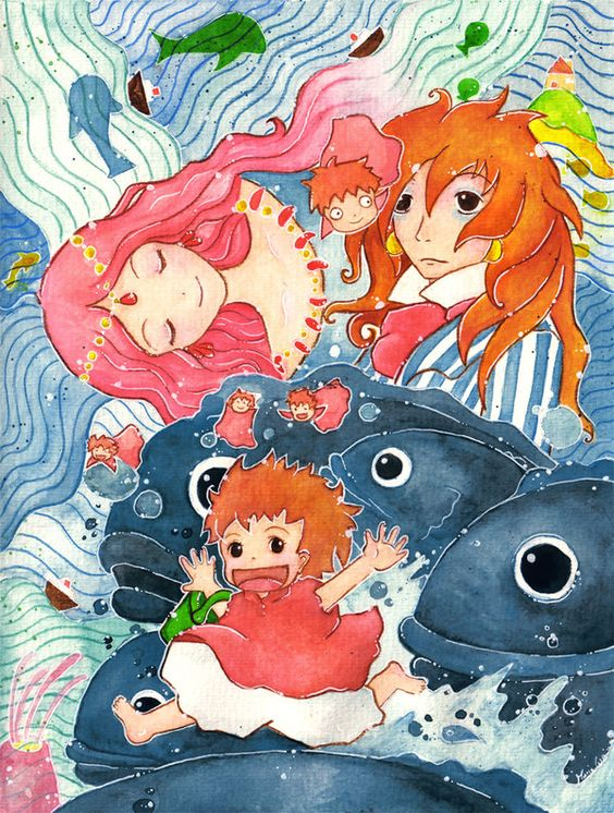Gake no Ue no Ponyo by Melonkitten
