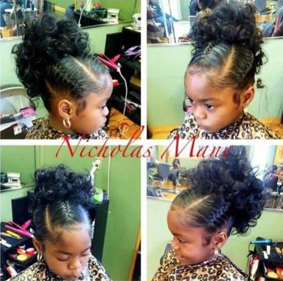 Superb Kid Hairstyles Black Hair And Updo On Pinterest Short Hairstyles For Black Women Fulllsitofus