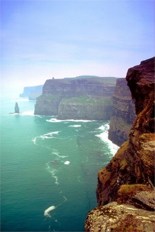 Well I don't know if I loved it. I would have loved to have seen it on a clear and safe day, but with gale force winds blowing me away in the parking lot, I didn't quite get the chance to see the Cliffs of Moher in Ireland. I'd like to go back one day in the future.