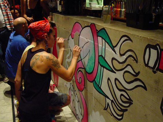 #wallpainting #vernissage #party #friends #festival #raval #art