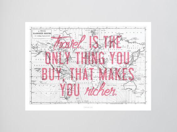 Originaldruck - Kunstdruck Poster / Weltkarte - ein Designerstück von typealive…