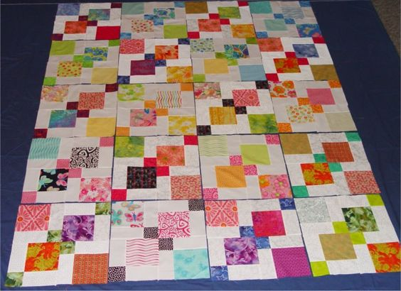 Disappearing Nine-patch tutorial - love how they put theirs together...great pattern