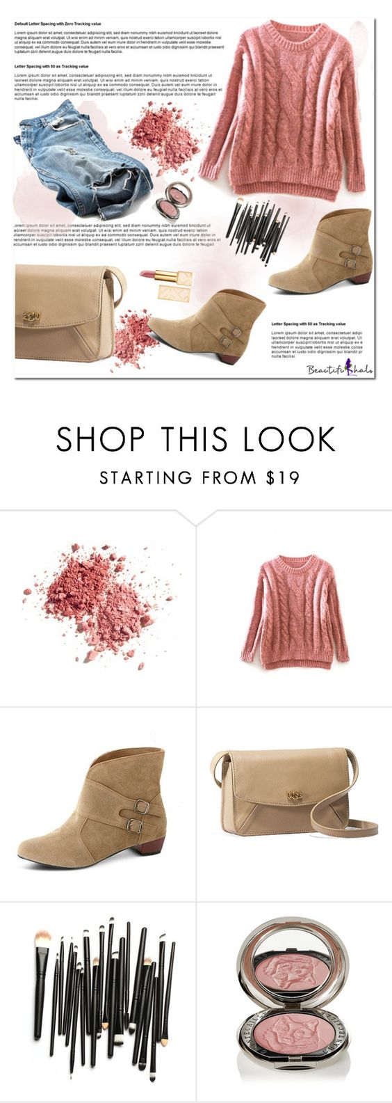 """""""Beautifulhalo 2"""" by melodibrown ❤ liked on Polyvore featuring UGG Australia, Chantecaille, Tory Burch and bhalo"""
