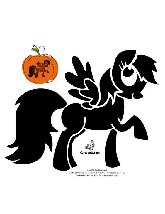 Rainbow Dash Pumpkin Stencil Halloween Goodness