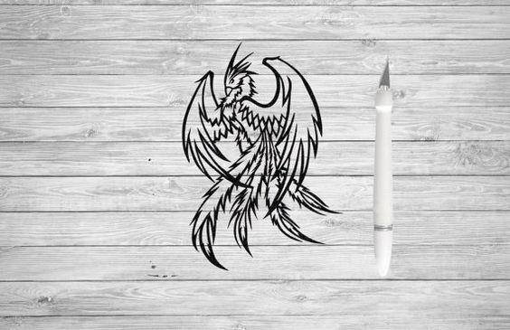 Wall Art - Phoenix Bird Papercut - Phoenix Rising Papercutting - Scherenschnitte - Fantasy Art
