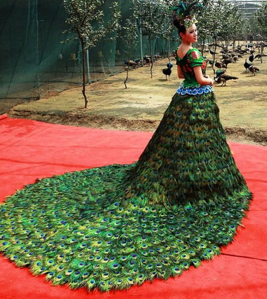 Peacock Wedding Dress — $1.5 million