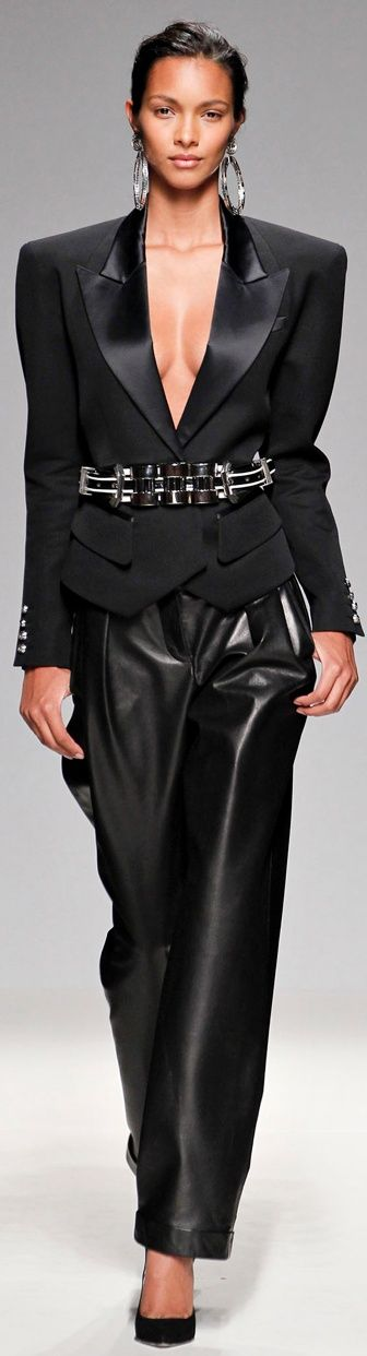 The baggy leather trouser! EXQUISITE! www.kerlagons.com