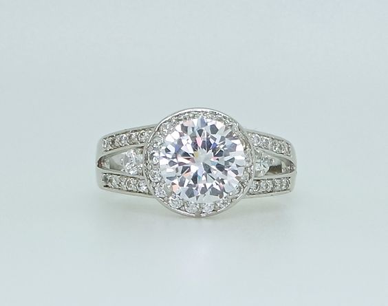 Stunning Simulated Diamond Round Ring #escapejewellery