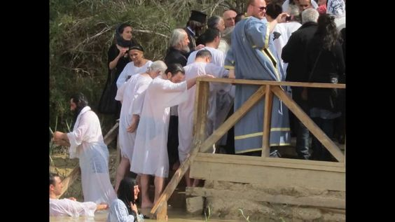 Baptism in the Jordan River - in the footsteps of Scripture. http://www.customisraeltours.com