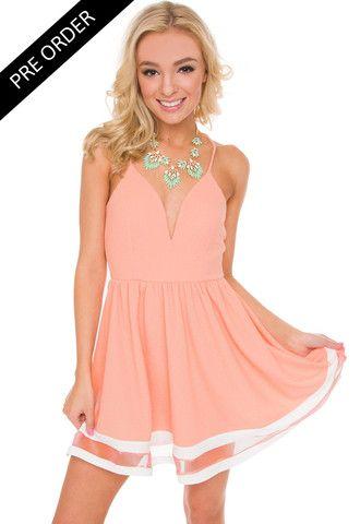 Modern Day Cinderella Dress in Peach