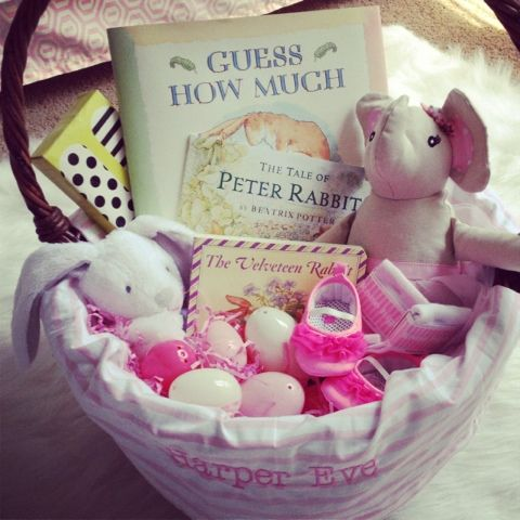 17 best images about babys first easter on pinterest baby pool super cute baby girl easter basket negle Image collections