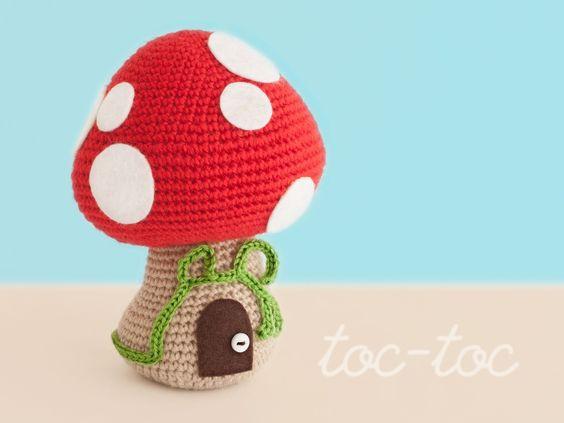 Free Kawaii Amigurumi Pattern : Mushroom House - FREE Crochet Pattern / Tutorial FREE ...
