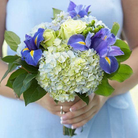 Something Blue Bridal Bouquet In 2020 Iris Wedding Bouquet