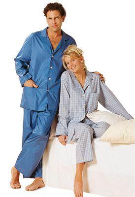 burda style, Schnittmuster - Schlafanzug für Damen und Herren nähen: Geknöpftes Oberteil mit abgerundeten Revers und bequeme Gummizughose