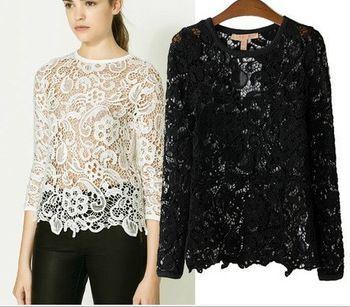 Resultado de imagen de imágenes de blusas de seda con encaje Más