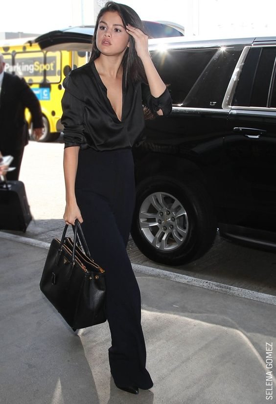 THE POWER TROUSER This is straighforward fashion at its finest. When we saw this picture of Selena Gomez in her elegant and swishy leg-lengthening trousers at VERO MODA HQ, we were sold!