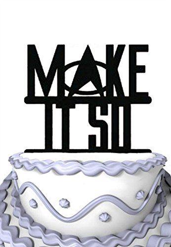 Star Trek Make It So Wedding Cake Topper