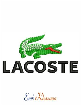 Lacoste Logo Embroidery Design Embroidery Logo Embroidery Designs Lacoste