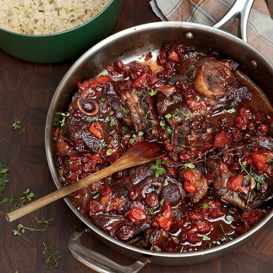 braised lamb w/dried fruit // grace parisi | food & wine (sub cherry preserves)