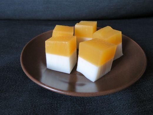 where's the beef? Vegetarians in Melbourne: Mango coconut splice jellies