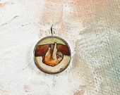 Petite Charm -- Happy Little Sloth -- Cute Animal Jewelry, Wearable Art Print