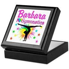 GYMNAST QUEEN Keepsake Box  Personalized Gymnastics keepsake and jewelry boxes décor to delight your beautiful Gymnast. http://www.cafepress.com/sportsstar/10114301 #Gymnastics #Gymnast #WomensGymnastics #Gymnastgift #Lovegymnastics #PersonalizedGymnast