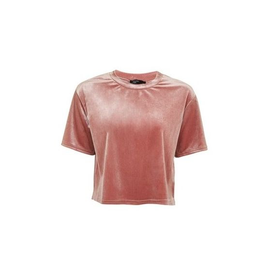 Velvet Boxy T-Shirt by Nobody's Child (195 HRK) ❤ liked on Polyvore featuring pink
