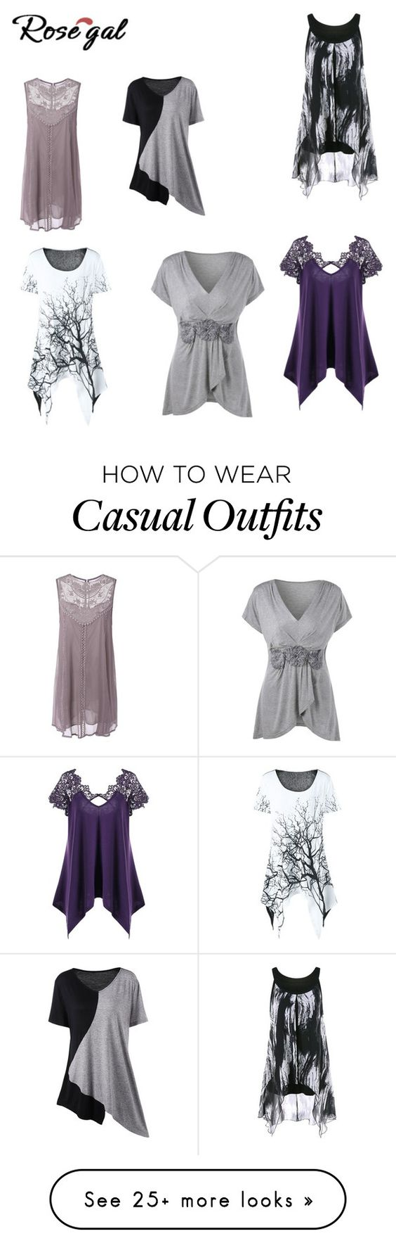 """Casual assymetric"" by audjvoss on Polyvore"