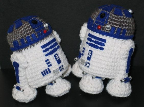 Free Crochet Patterns Amigurumi Star Wars : Star Wars R2D2 Amigurumi Pattern by janama on Etsy http ...