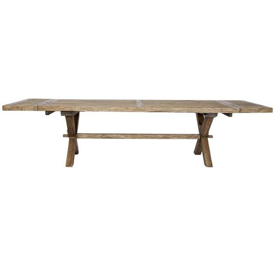 FARMHOUSE Recycled Timber Extension Dining Table To Reclaimed E