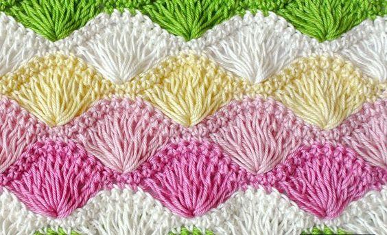 [Free Pattern] Learn A New Crochet Stitch: Long Loop Shell Stitch Crochet S...
