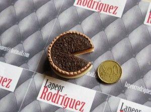 """Arcilla polimérica 100% Artesanal » Blog Archive » Broche de Fimo """"Tarta de chocolate"""""""