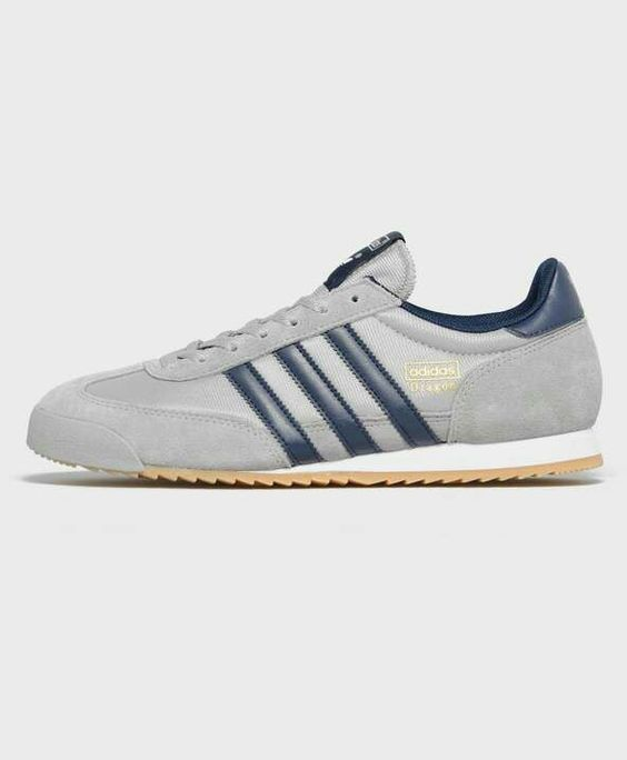 Understated Grey mesh and suede with Navy leather trim