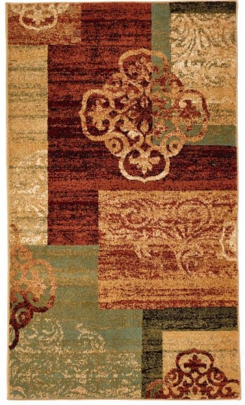 Living Colors Multi Color Medallion Block Accent Rug 26 X 45 Unbranded Rugs Rugs On Carpet Area Rugs