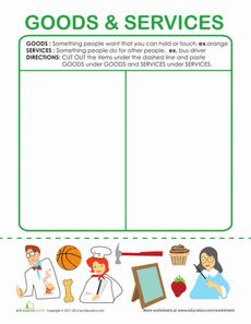 Printables Goods And Services Worksheets examples of goods and services home services