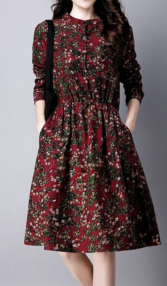 Floral Printed Summer Dresses outfit fashion casualoutfit fashiontrends