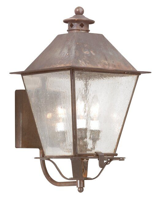 Theodore 3 Bulb Outdoor Sconce Outdoor Wall Lantern Outdoor Sconces Wall Mount Lantern