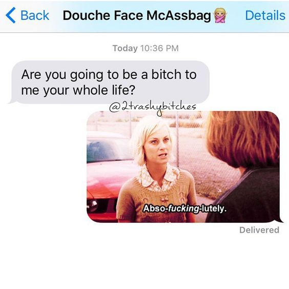 Gotta admire the determination though  #doucheFaceMcAssbag strikes again. He's  a glutton for punishment eh? This was a gif as well so especially fun. #extexts #notTodaySatanNotToday #2trashybitches #twotrashyoriginal
