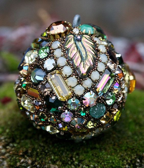 Reserved for Sandi  Vintage Rhinestones Ball by ASoulfulJourney