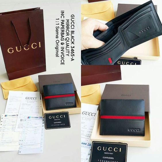 IDR 599.000  Merek (Brand) : Gucci  Kelengkapan (Additional Include) : - Kotak Gucci (Gucci Box) - Sarung Dompet Gucci (Gucci Wallet Cover) - Sertifikat Gucci (Gucci Certificate) - Receipt - Invoice - Paperbag Gucci  EliTeStore menyediakan barang-barang berkualitas High Quality..Jadi bisa dipastikan bahwa barang-barang yang kami jual adalah untuk mementingkan kualitas..Terima kasih…