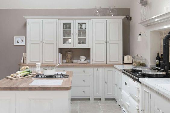 cuisine ouverte blanche Chichester Colerne Neptune