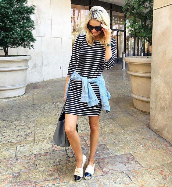 Stripes, chambray, espadrilles