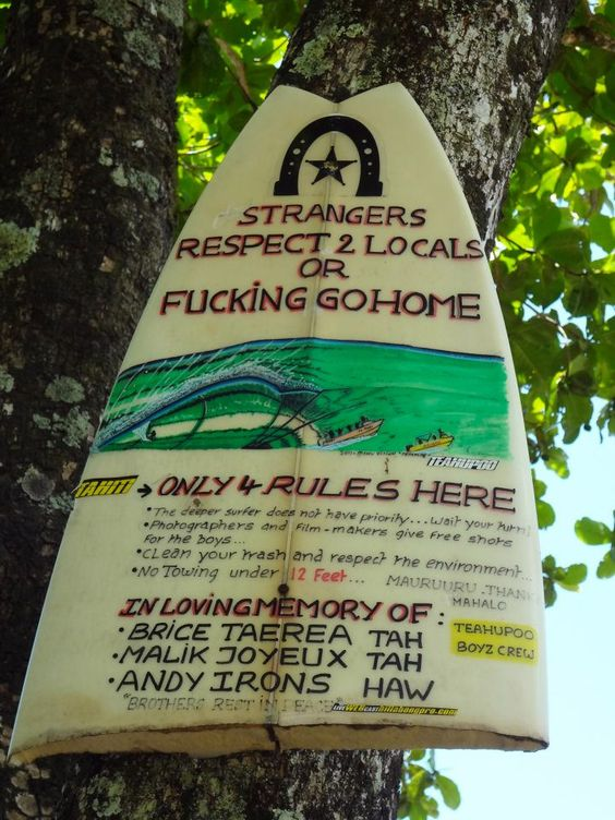 Teahupoo Local Advice Hungry Walrus Surf Tahiti Respect