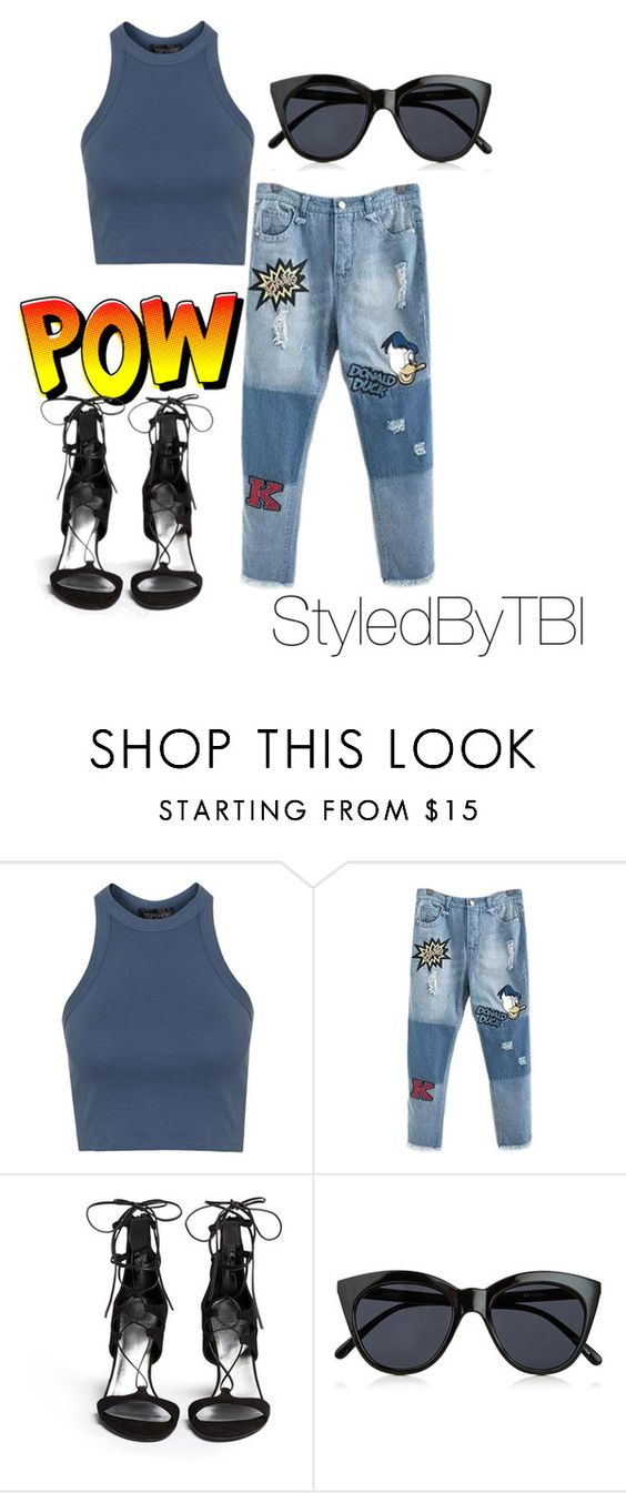 """Untitled #119"" by styledbytbi on Polyvore featuring Topshop, Stuart Weitzman and Le Specs"
