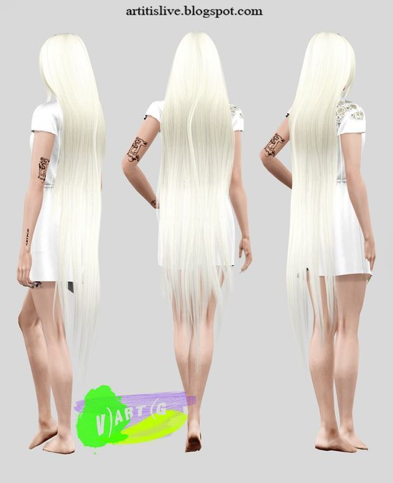Super Long Wavy Hair For Your Ladies Found In Tsr Category 39 Sims 4 Female Hairstyles 39 Sims Hair Smoke Hair Long Wavy Hair