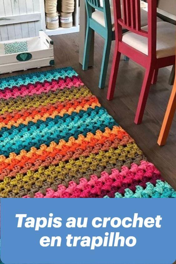tapis au crochet en trapilho tapis au