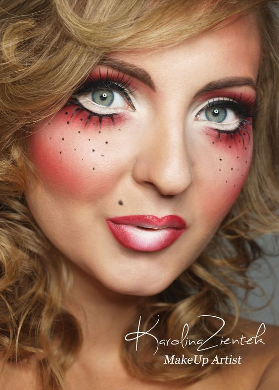 Strawberry shortcake costume makeup