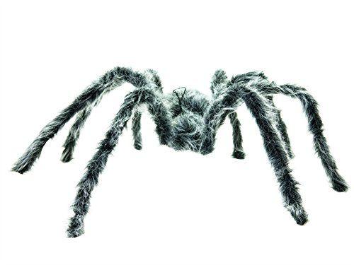 Europalms Halloween 83314651 Deko-Spinne grau - Deko-Spinne ¨Spinne aus stabilen PU-Schaum ¨Beine formbar ¨Körper überzogen mit künstlichem Fell ¨Höhe: 25 cm ¨Breite: 60 cm ¨Tiefe: 85 cm