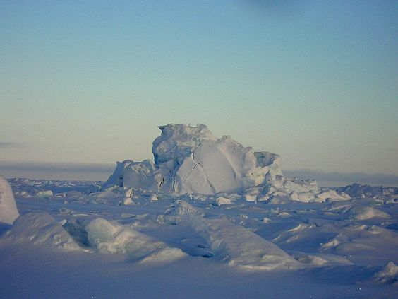 Captive iceberg in Resolute Bay, Nunavut