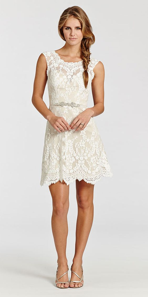 24 amazing short wedding dresses for petite brides for Short petite wedding dresses
